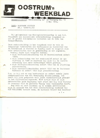 Oostrum's Weekblad 1974-05-03