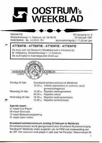 Oostrum's Weekblad 1997-02-20