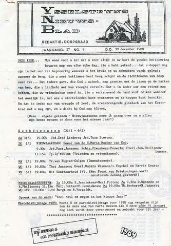 Ysselsteyns Nieuwsblad 1988-12-30