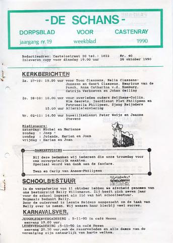 Castenrays dorpsblad De Schans 1990-10-26