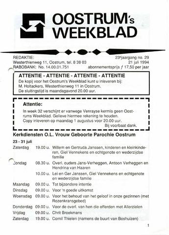Oostrum's Weekblad 1994-07-21