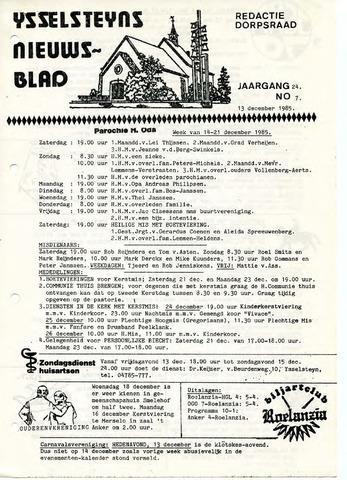 Ysselsteyns Nieuwsblad 1985-12-13