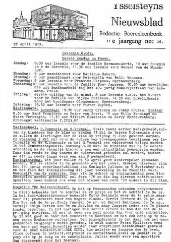 Ysselsteyns Nieuwsblad 1973-04-27