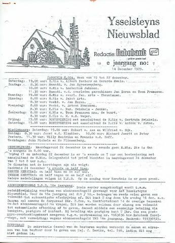 Ysselsteyns Nieuwsblad 1979-12-14