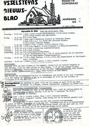 Ysselsteyns Nieuwsblad 1983-04-22