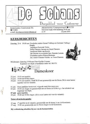 Castenrays dorpsblad De Schans 2005-06-22