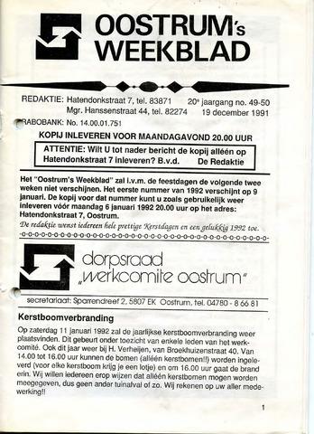 Oostrum's Weekblad 1991-12-19