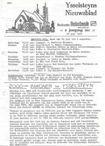 Ysselsteyns Nieuwsblad 1979-07-27