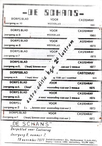 Castenrays dorpsblad De Schans 1981-09-01