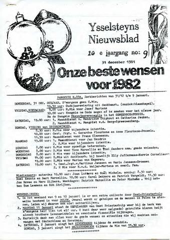 Ysselsteyns Nieuwsblad 1981-12-31