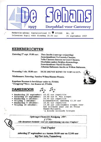 Castenrays dorpsblad De Schans 1997-09-25