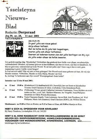 Ysselsteyns Nieuwsblad 2001-05-11