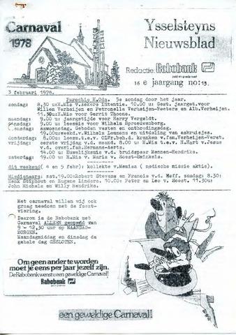 Ysselsteyns Nieuwsblad 1978-02-03