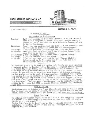 Ysselsteyns Nieuwsblad 1965-10-07
