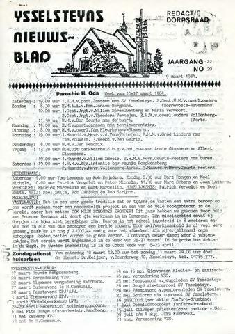 Ysselsteyns Nieuwsblad 1984-03-09