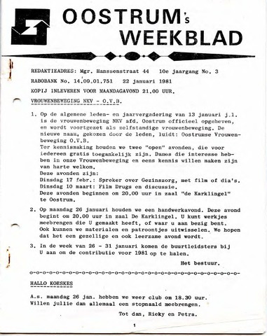 Oostrum's Weekblad 1981-01-22