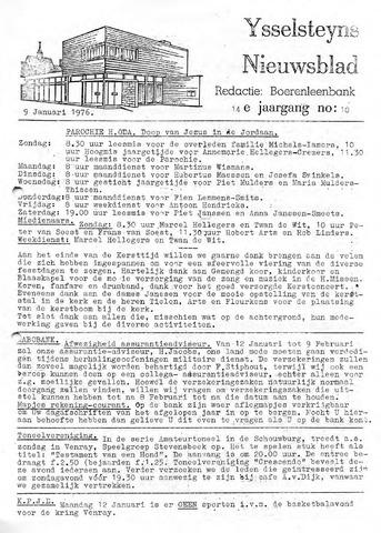 Ysselsteyns Nieuwsblad 1976-01-09