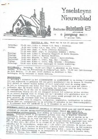 Ysselsteyns Nieuwsblad 1980-10-17
