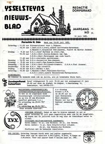 Ysselsteyns Nieuwsblad 1985-07-19