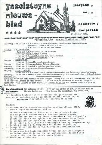 Ysselsteyns Nieuwsblad 1982-10-29