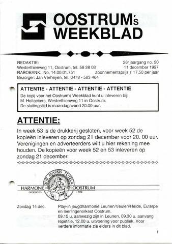 Oostrum's Weekblad 1997-12-11