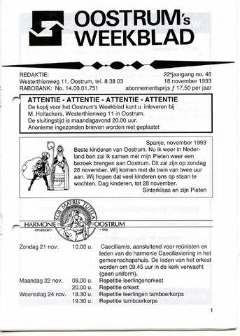 Oostrum's Weekblad 1993-11-18
