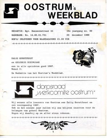 Oostrum's Weekblad 1986-12-23