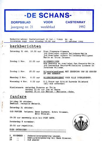 Castenrays dorpsblad De Schans 1992-10-30