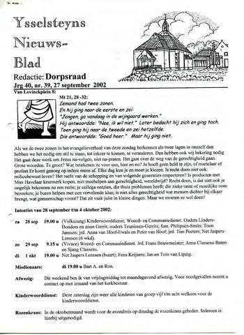 Ysselsteyns Nieuwsblad 2002-09-27