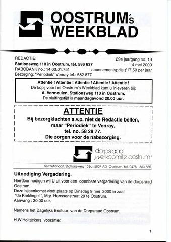 Oostrum's Weekblad 2000-05-04