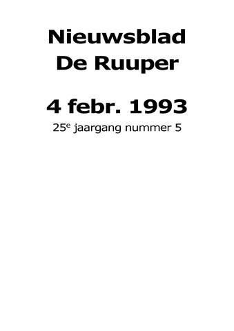 Dorpsblad Leunen-Veulen-Heide 1993-02-04