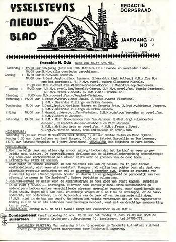 Ysselsteyns Nieuwsblad 1984-11-09