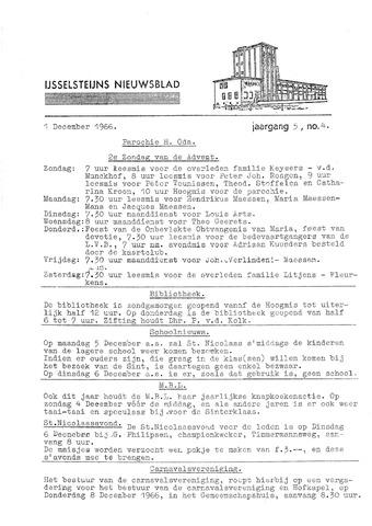 Ysselsteyns Nieuwsblad 1966-12-01