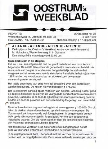 Oostrum's Weekblad 1993-06-03