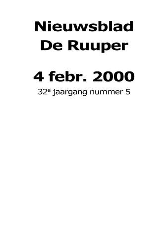 Dorpsblad Leunen-Veulen-Heide 2000-02-04