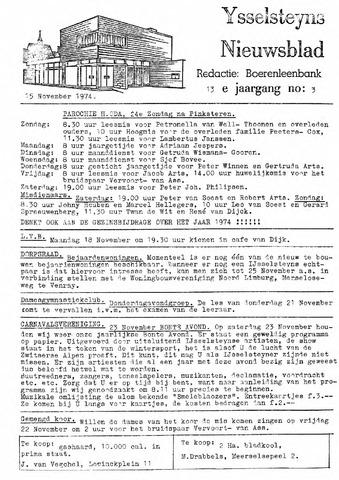 Ysselsteyns Nieuwsblad 1974-11-15
