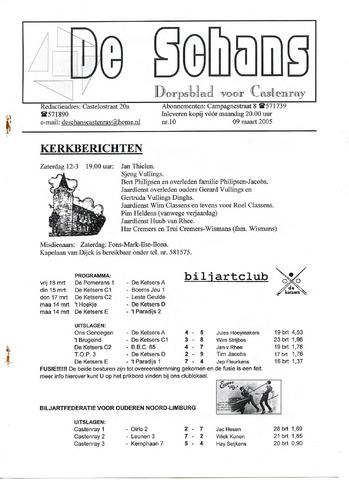 Castenrays dorpsblad De Schans 2005-03-09