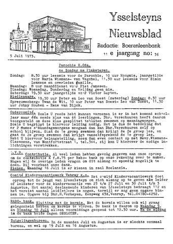 Ysselsteyns Nieuwsblad 1973-07-05