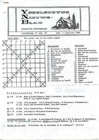 Ysselsteyns Nieuwsblad 1989-08-04