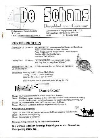 Castenrays dorpsblad De Schans 2005-12-21