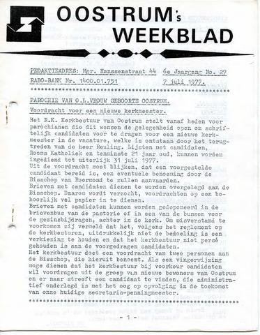 Oostrum's Weekblad 1977-07-07