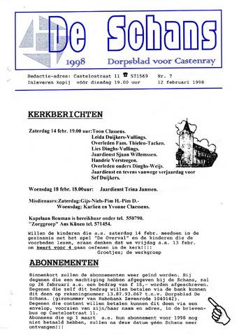 Castenrays dorpsblad De Schans 1998-02-12