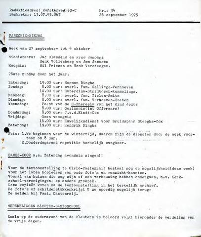 Castenrays dorpsblad De Schans 1975-09-26