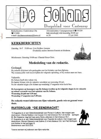 Castenrays dorpsblad De Schans 2005-07-13