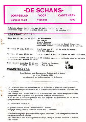 Castenrays dorpsblad De Schans 1993-10-22