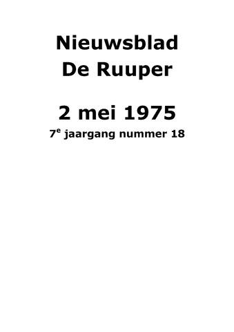 Dorpsblad Leunen-Veulen-Heide 1975-05-02
