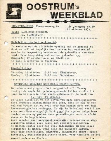 Oostrum's Weekblad 1974-10-11