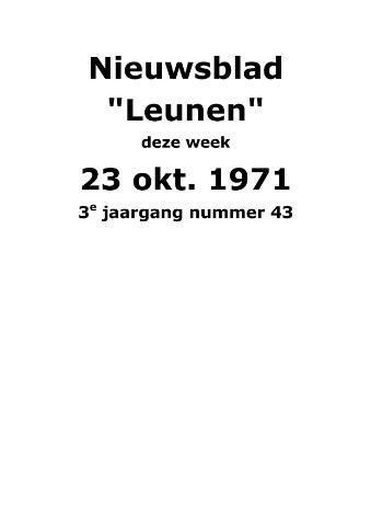 Dorpsblad Leunen-Veulen-Heide 1971-10-23