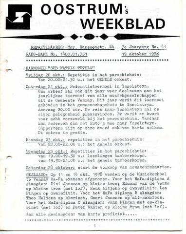 Oostrum's Weekblad 1978-10-19