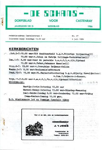 Castenrays dorpsblad De Schans 1986-07-04